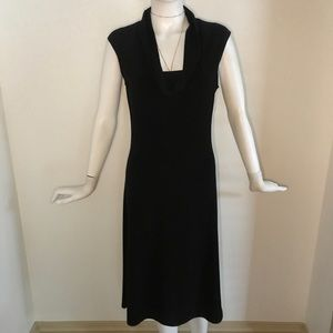A.B.S slinky Black cowl neck dress